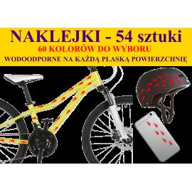 NAKLEJKI NA ROWER, KASK - PŁOMIENIE - 54 szt