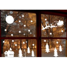 naklejki świąteczne Z MIKOŁAJEM Boże Narodzenie - 28 szt wzór 7