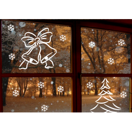 naklejki świąteczne DZWONECZKI - wzór 10