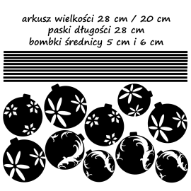 naklejki BOMBKI zestaw - arkusz 28x20cm