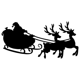 naklejka MIKOŁAJ NA SANIACH 28x60 cm - 60 kolorów