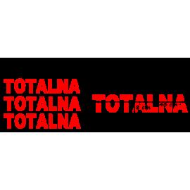 naklejki napis TOTALNA wzór nr4