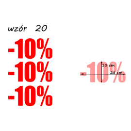 naklejki PROCENT -10% wzór nr 20