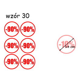 naklejki PROCENT -90% wzór nr 30
