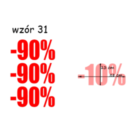 naklejki PROCENT -90% wzór nr 31