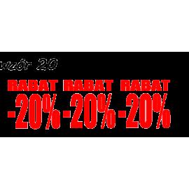 naklejki napis RABAT -20% wzór nr 20 XL