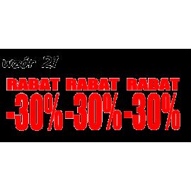 naklejki napis RABAT -30% wzór nr 21 XL