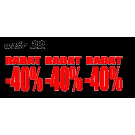 naklejki napis RABAT -40% wzór nr 22 XL