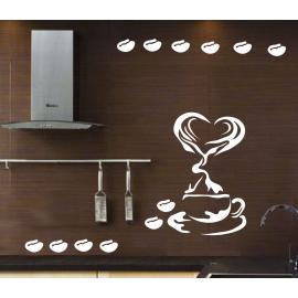 naklejki do kuchni KAWA wz 1 95cm na ścianę, meble