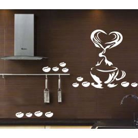 naklejki do kuchni KAWA wz4 70cm na ścianę, meble