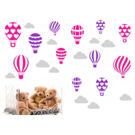 naklejki BALONY CHMURKI - 60 kolorów - DUŻY ZESTAW