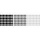 naklejki GROCHY KROPKI średnica 3cm - zestaw 189 szt