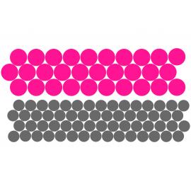 NAKLEJKI NA ROWER, KASK - GROCHY 90 szt 60 kolorów