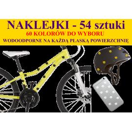 NAKLEJKI NA ROWER, KASK - CZASZKI - 54 szt 60 kolorów