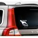 naklejka na samochód Z IMIENIEM PSA - różne RASY - 60 kolorów