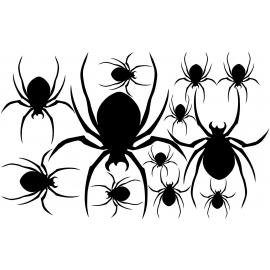 naklejki PAJĄKI zestaw Halloween - arkusz 28x45cm