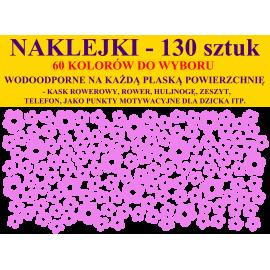 NAKLEJKI - KWIATUSZKI - 1,5cm i 2,5cm - zestaw 130 szt