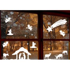 naklejki świąteczne ANIOŁKI - wzór 16