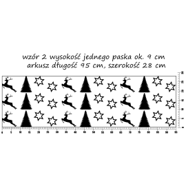 naklejki BORDER 95x28cm - wzór 2