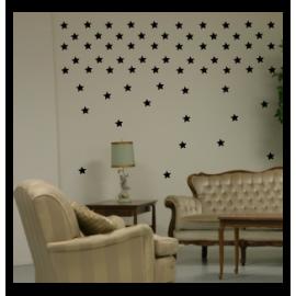 naklejki dekoracyjne GWIAZDKI 6 cm - 49 szt - wzory skandynawskie