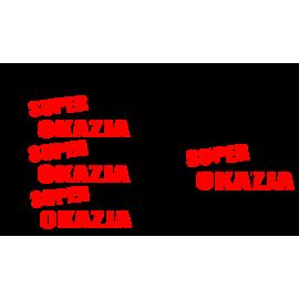 naklejki napis SUPER OKAZJA wzór nr6