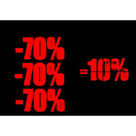 naklejki PROCENT -70% wzór nr 27