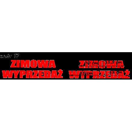 naklejki napis ZIMOWA WYPRZEDAŻ wzór nr 17 XL