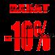 naklejki napis RABAT -10% wzór nr 19 XL