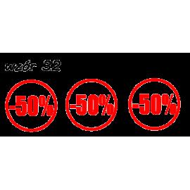 naklejki napis PROCENT -50% wzór nr 32 XL