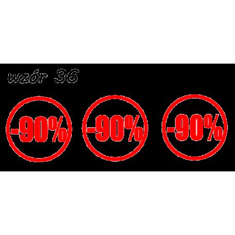 naklejki napis PROCENT -90% wzór nr 36 XL