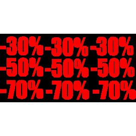 naklejki napis -30%, -50%, -70% wzór nr 4 XXL