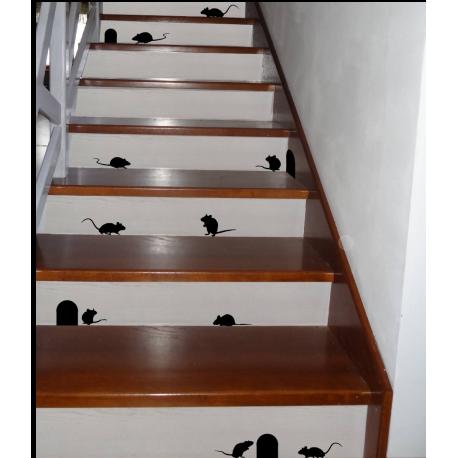 naklejki MYSZY MYSZKI na schody, ściany, meble