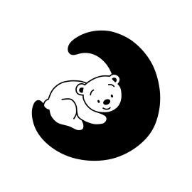 naklejka na ściany, meble MIŚ NA KSIĘŻYCU 45x44cm